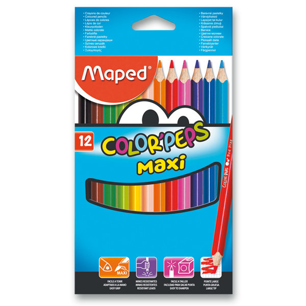 Pastelky Maped Color Peps MAXI-12 barev