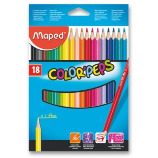 Pastelky Maped Color Peps-18 barev