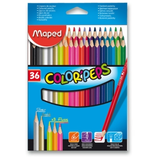 Pastelky Maped Color Peps-36 barev
